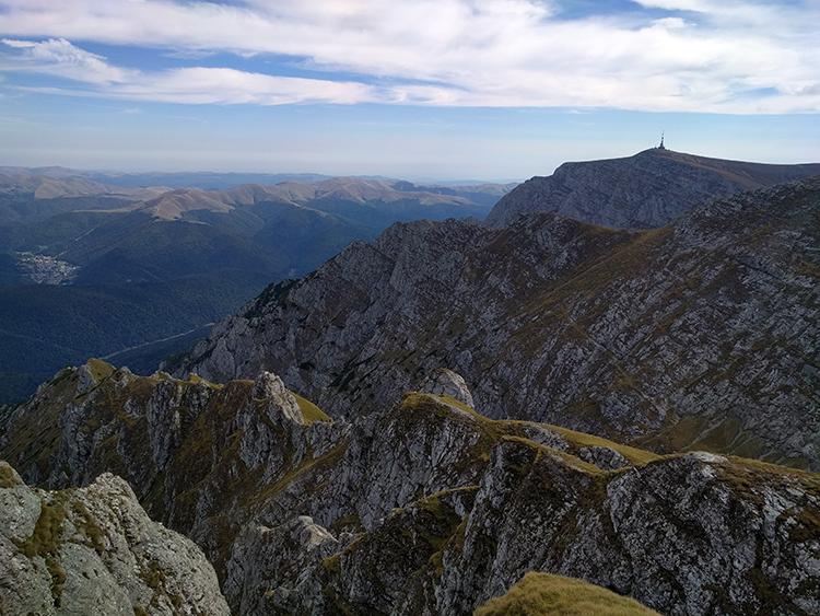 The pole is Varful Costila (Costila Peak)