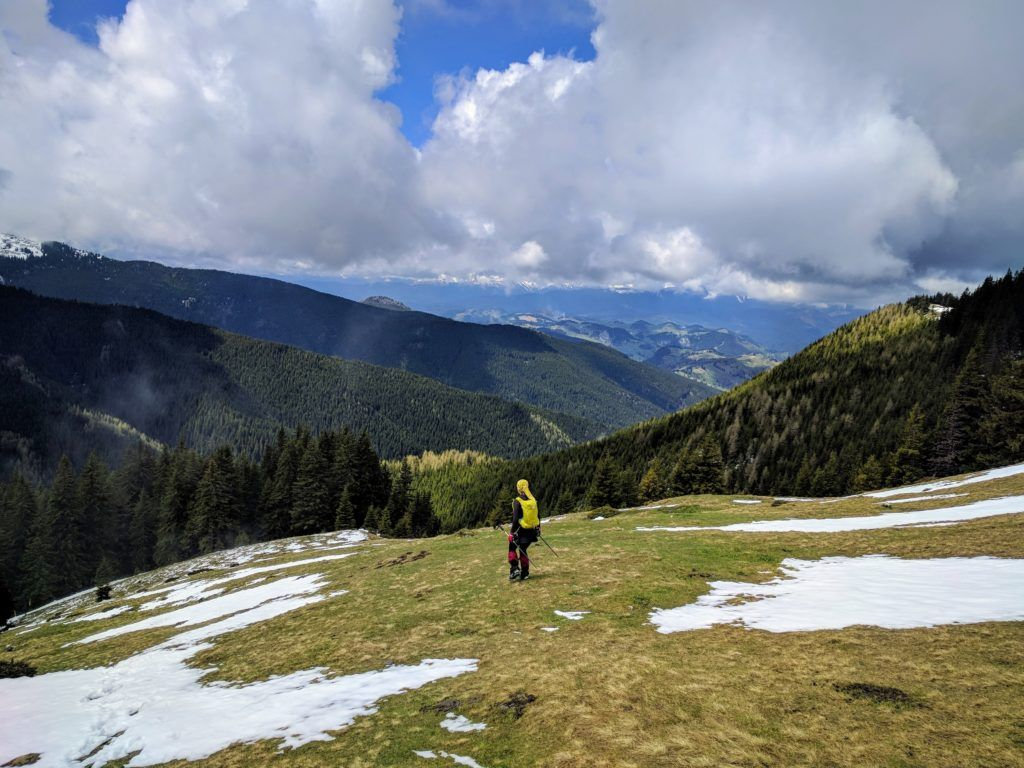 The weather started to look promising in the Bucegi Mountains