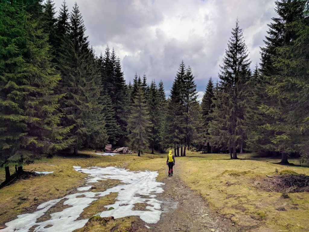 The last traces of snow in the Bucegi Mountains