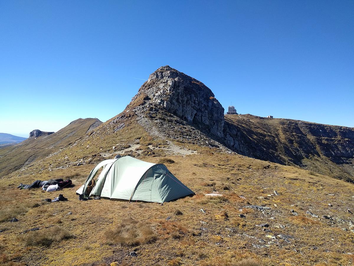Camping near Omu Peak