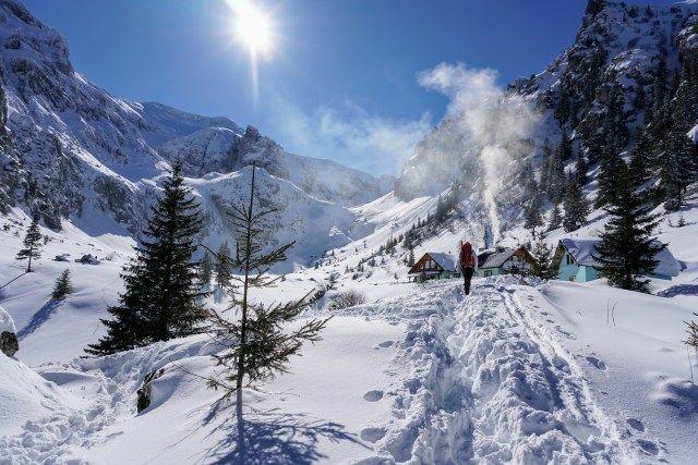 Malaiesti Chalet in winter