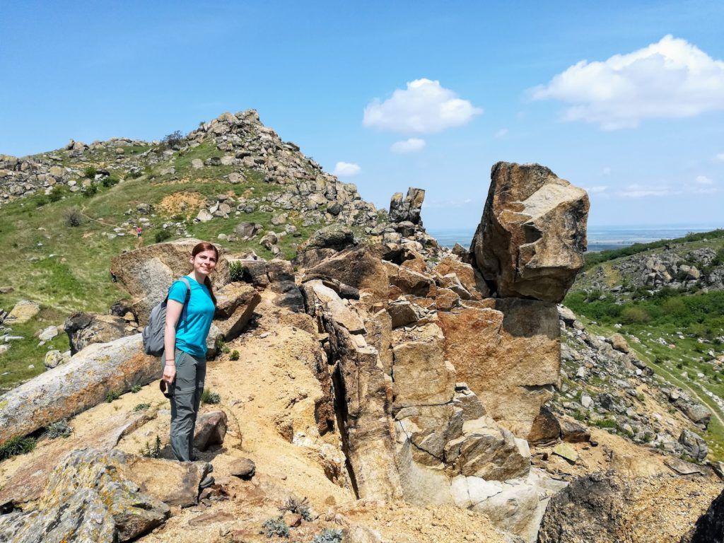 Behind the Sfinx in the Macin Mountains