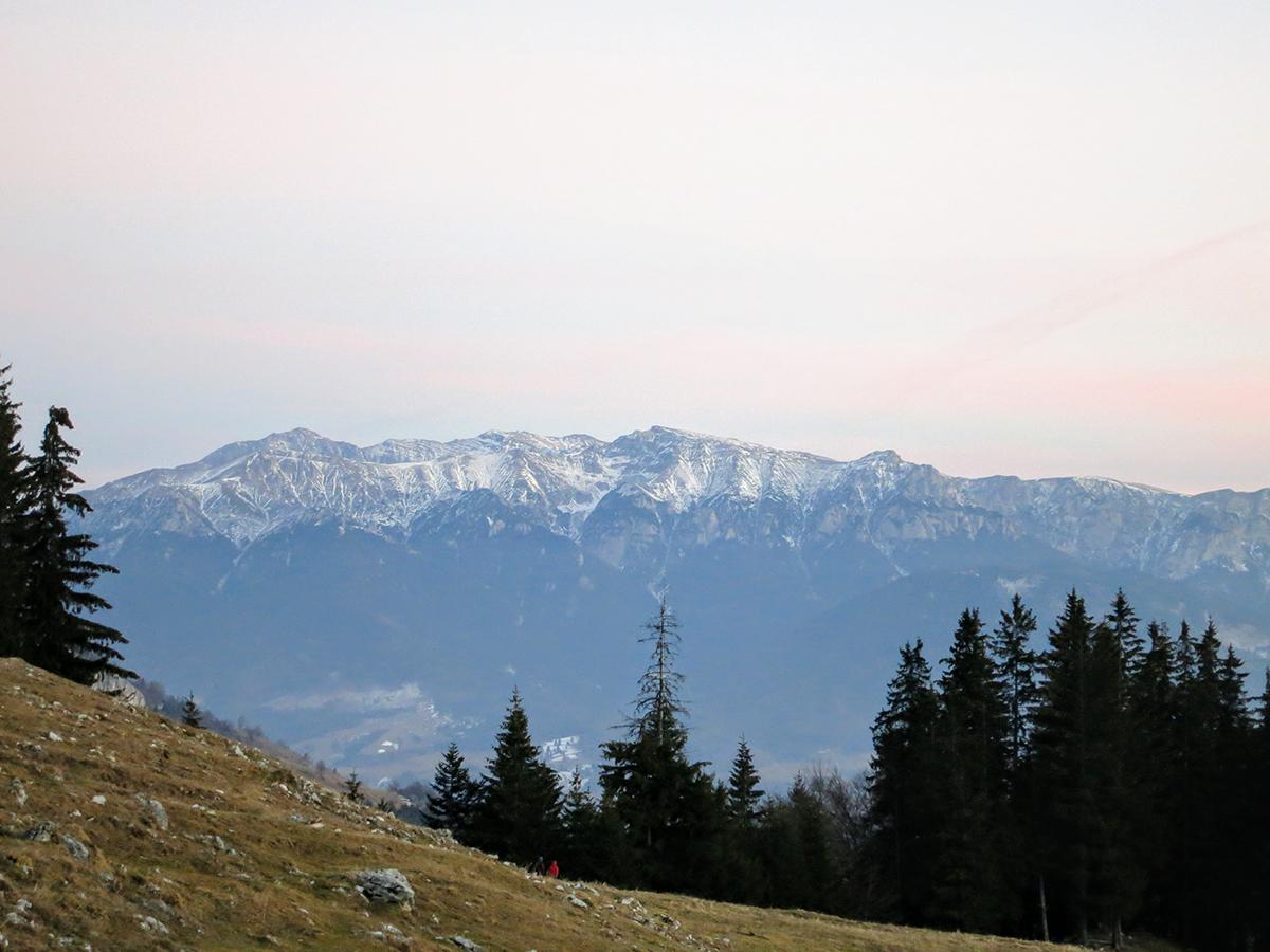 View over Bucegi mountains from Zanoaga Glade