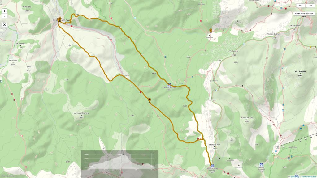 Hiking map Moieciu de Sus