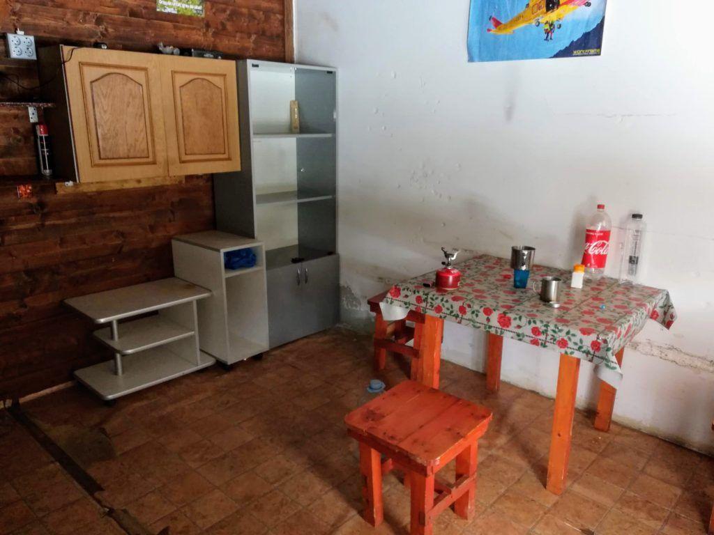 Inside the Salvamont Buta refuge