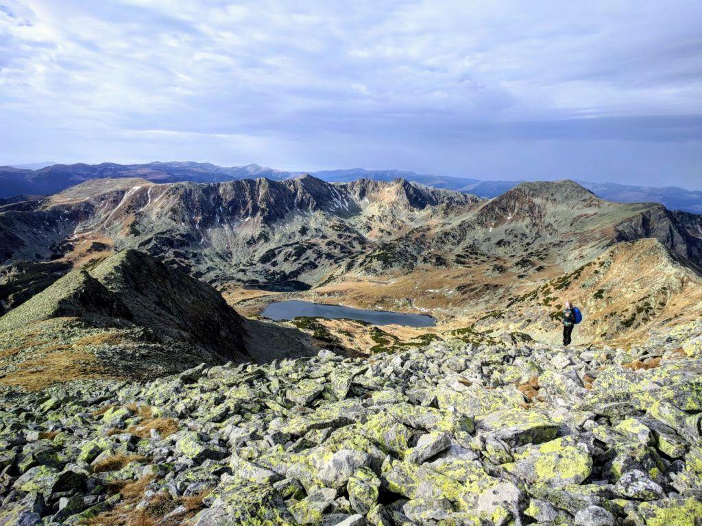 View from Peleaga Peak, Retezat Mountains