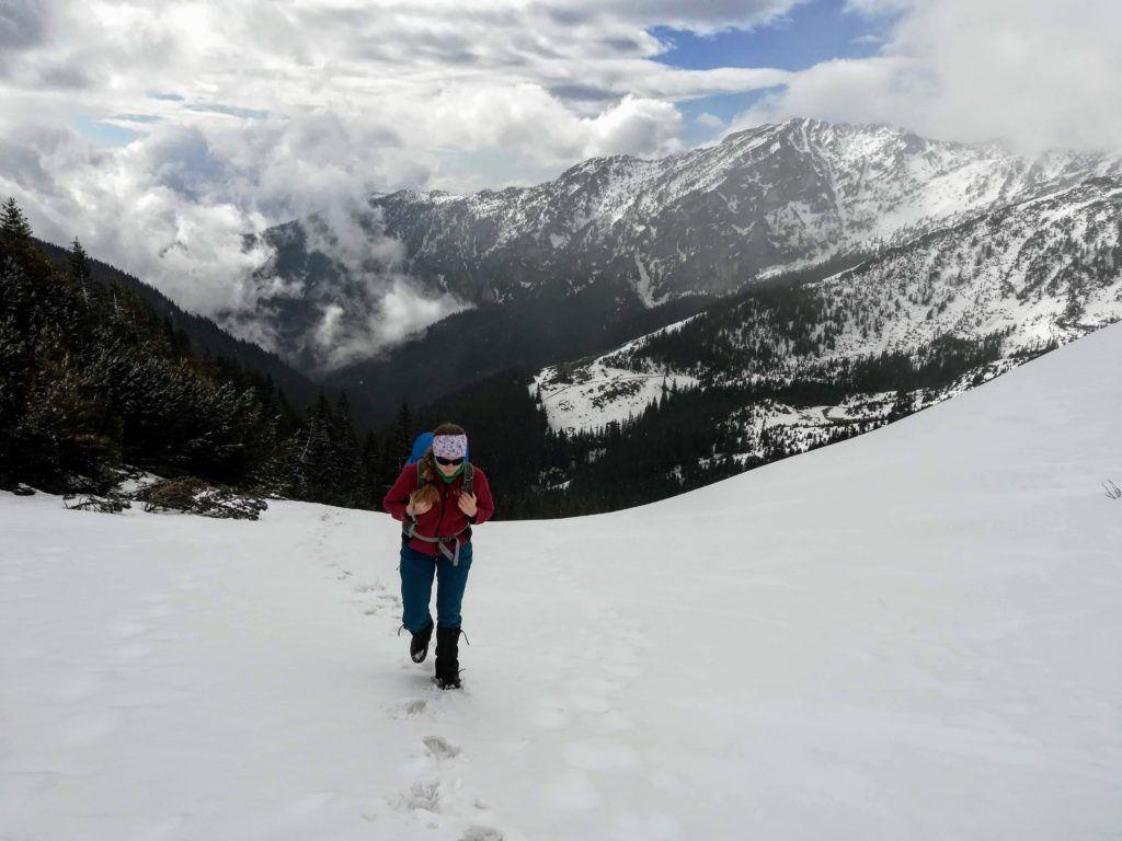 The steep ascent towords the Saua Plaiul Mic saddle