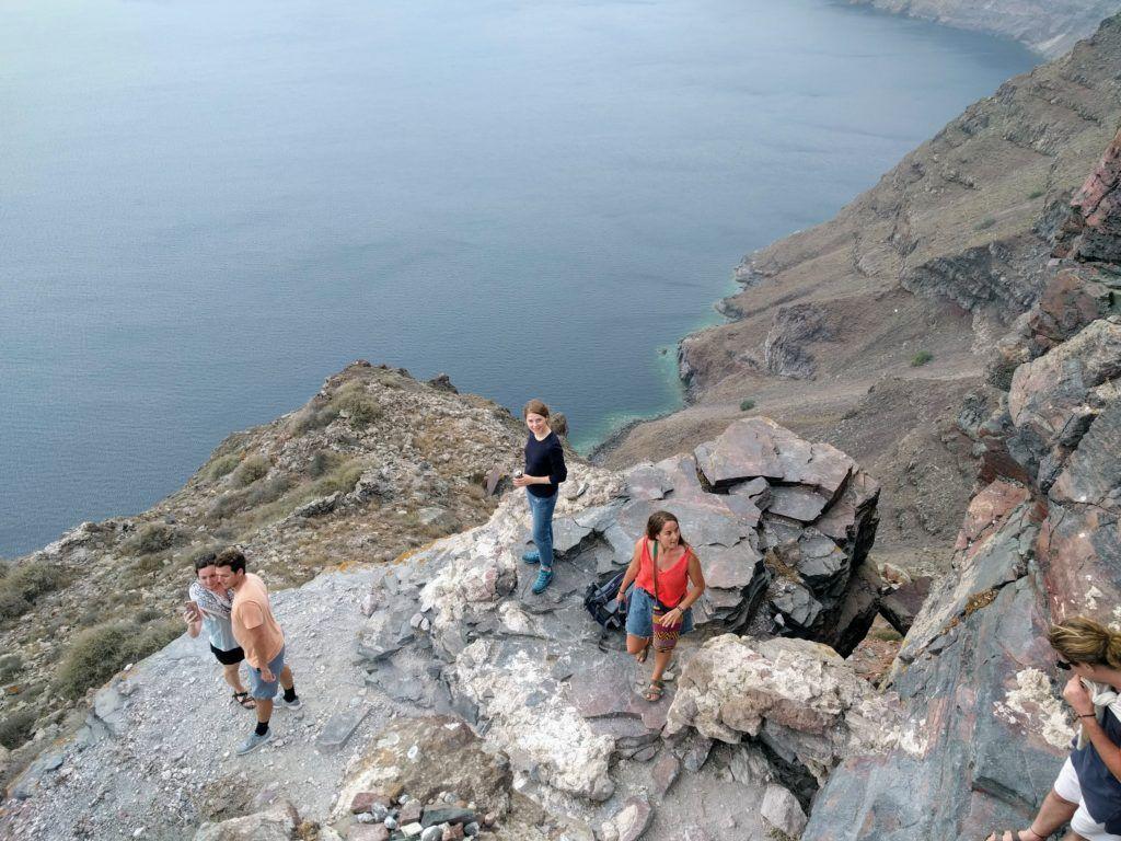 Climbing on top of Skaros