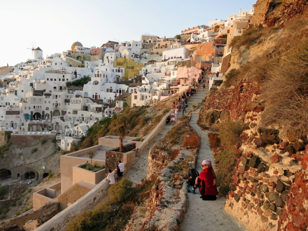 Waiting for the sun to set in Oia