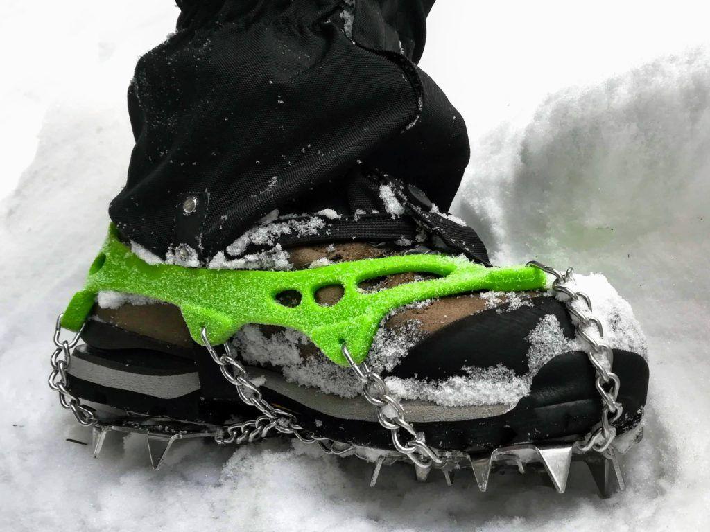 Snow gators and snow spikes