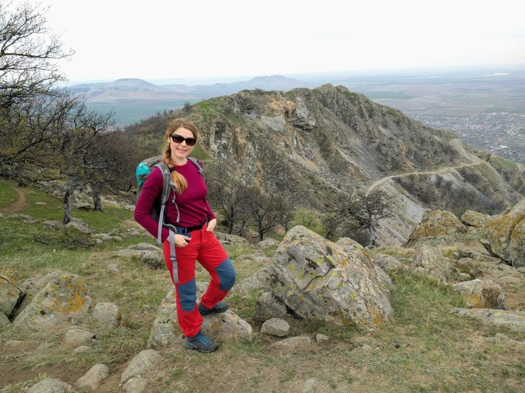 View near Tutuiatu Peak in Macin Mountains, Romania