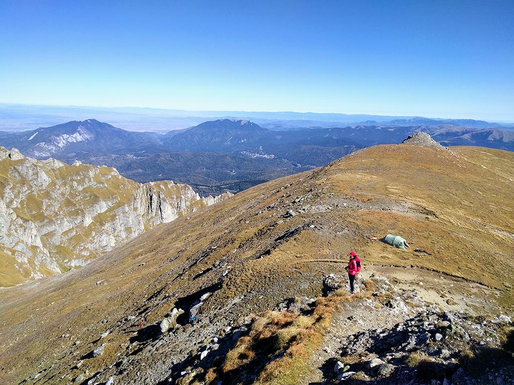 View from Morarului Ridge