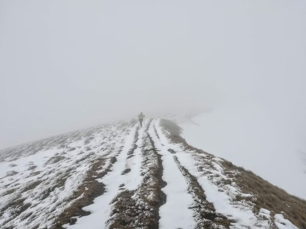 A long hike in foul weather